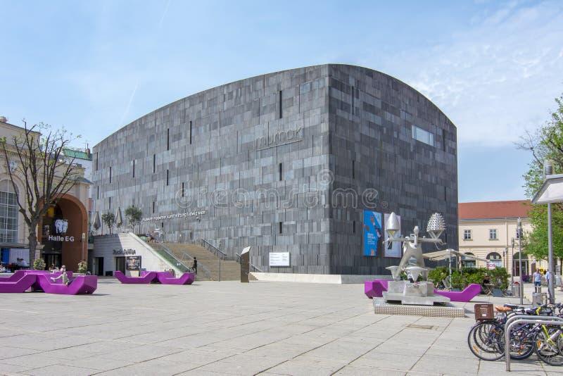 Mumok Museum of Modern Art museum in Vienna, Austria stock photography
