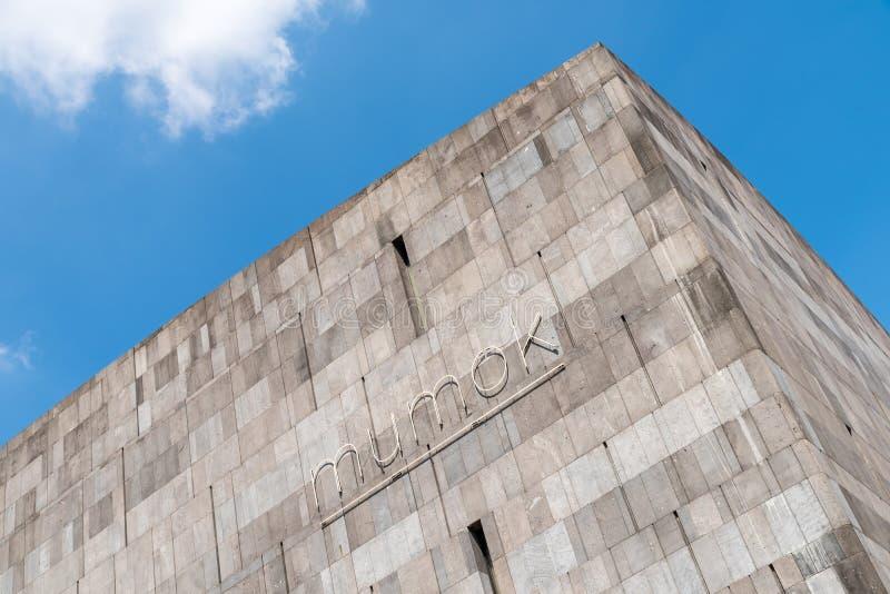 Mumok (Museum Moderner Kunst) Museum of Modern Art In Vienna stock photo