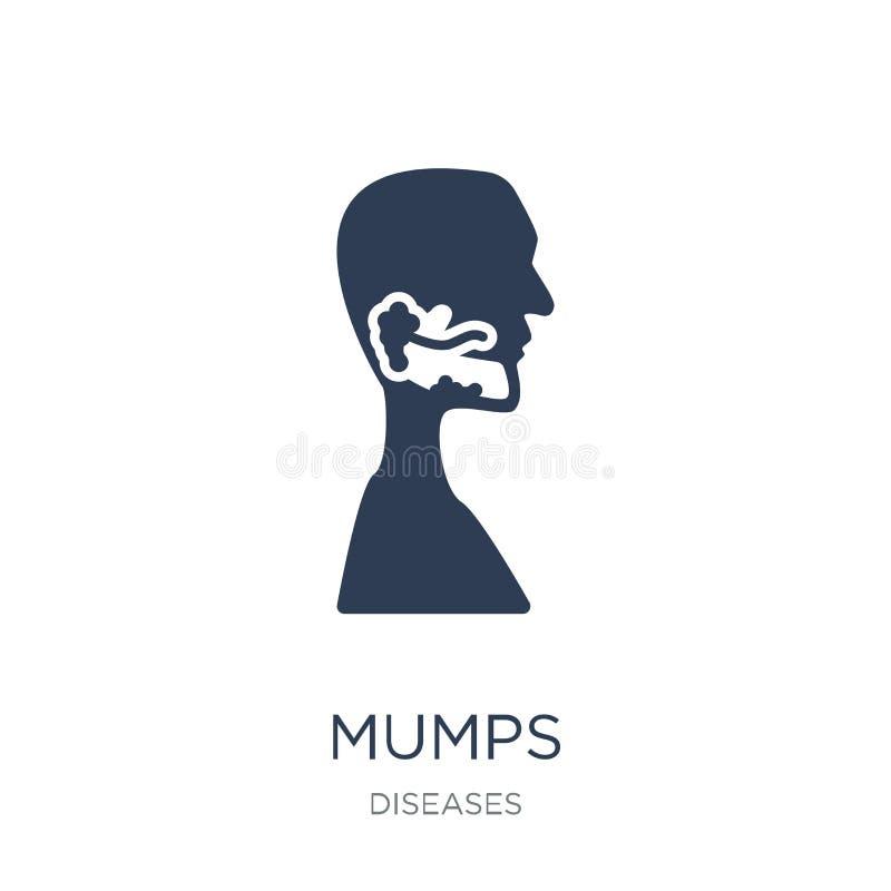 Mumps ikona Modna płaska wektorowa Mumps ikona na białym tle fr ilustracji