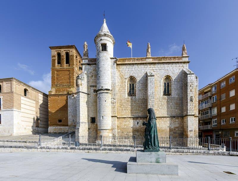 Mun Antolin kościół w Tordesillas Hiszpania zdjęcia stock