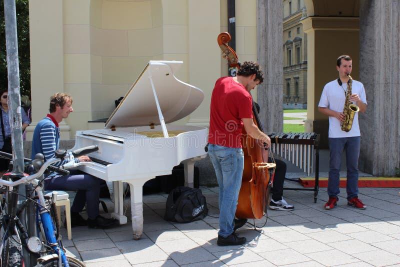 Munchen musicants stock fotografie