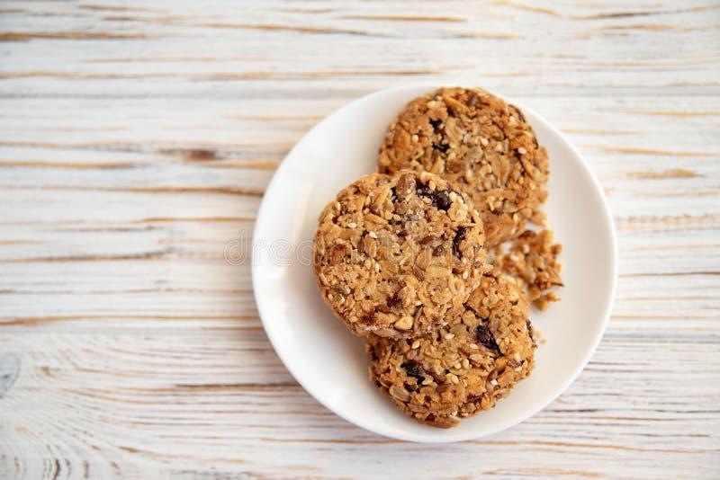 Munchies sains concept de vue supérieure de petit déjeuner sain, configuration plate image stock