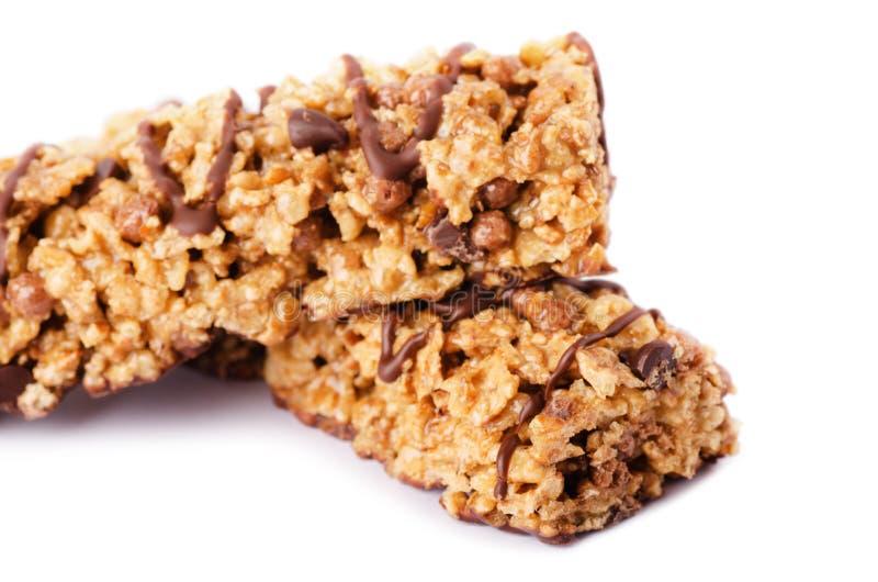 Munchies sains de barre de céréale de chocolat photos stock