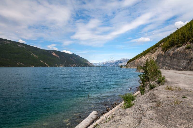 Muncho jezioro Brytyjski Kolumbia Kanada Ten prawdziwej ampuły głęboki błękitny jezioro zna dla swój wielkiego połowu as well as  fotografia royalty free