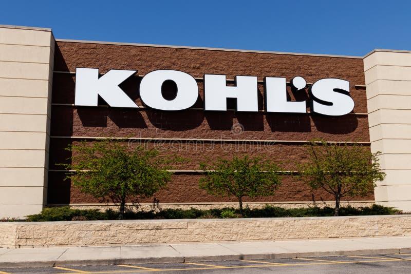Muncie - Circa April 2018: Kohl`s Retail Store Location. Kohl`s operates over 1,100 Discount Stores I. Kohl`s Retail Store Location. Kohl`s operates over 1,100 royalty free stock photo