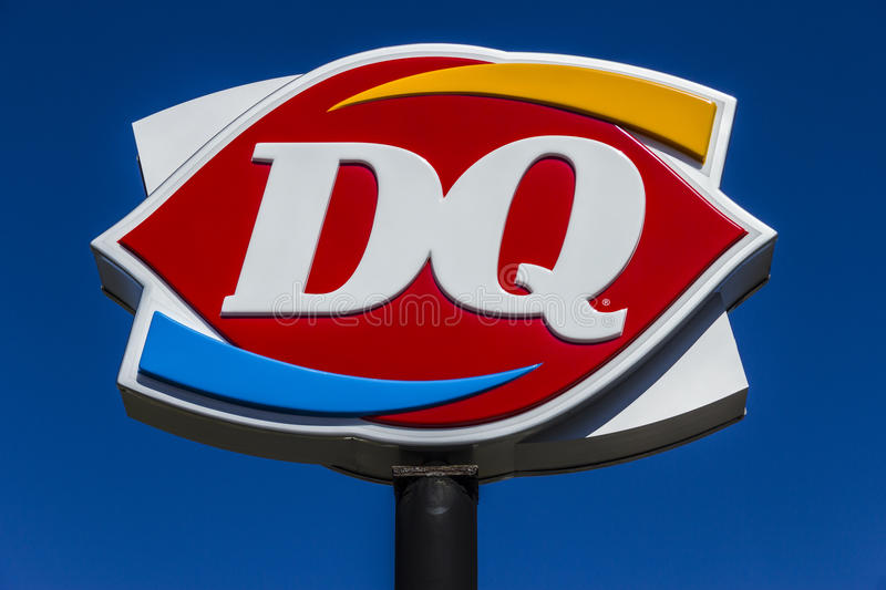 Muncie - Circa March 2017: Dairy Queen Retail Fast Food Location. DQ is a Subsidiary of Berkshire Hathaway VI stock image