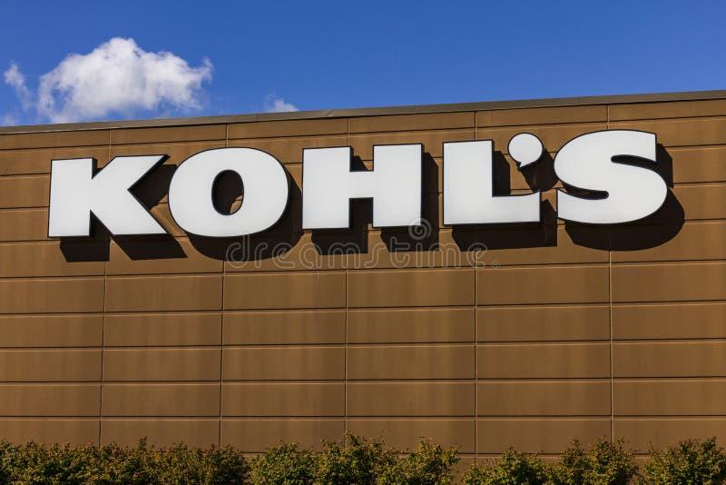 Muncie - Circa September 2016: Kohl's Retail Store Location. Kohl's operates over 1,100 Discount Stores V. Kohl's Retail Store Location. Kohl's operates over 1 royalty free stock photos