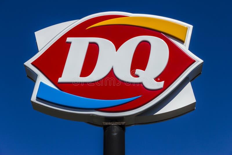 Muncie - Około Marzec 2017: Nabiał królowej handlu detalicznego fasta food lokacja DQ jest filią Berkshire Hathaway VI obraz stock