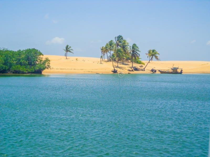 Mund des Flusses São Francisco - Maceio/Brasilien lizenzfreies stockfoto
