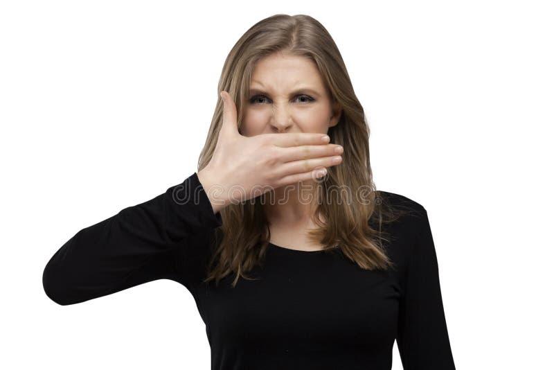 Mund geschlossen lizenzfreies stockbild