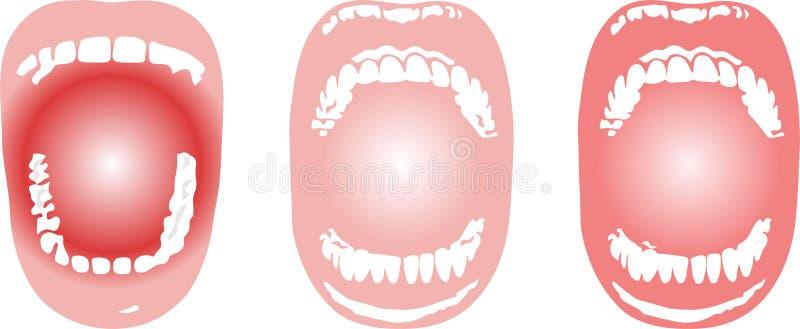 Mundhöhleikone auf weißem Hintergrund vektor abbildung
