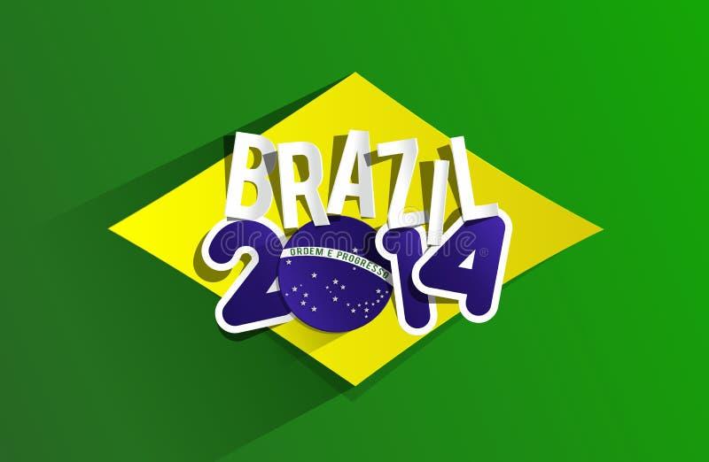 Mundial creativo el Brasil 2014 ilustración del vector