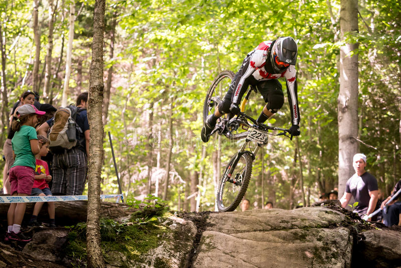 Mundial cuesta abajo 2013, Mont Ste-Anne, Beaupr de UCI imagen de archivo libre de regalías