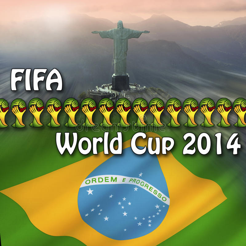 Mundial 2014 de la FIFA - el Brasil stock de ilustración
