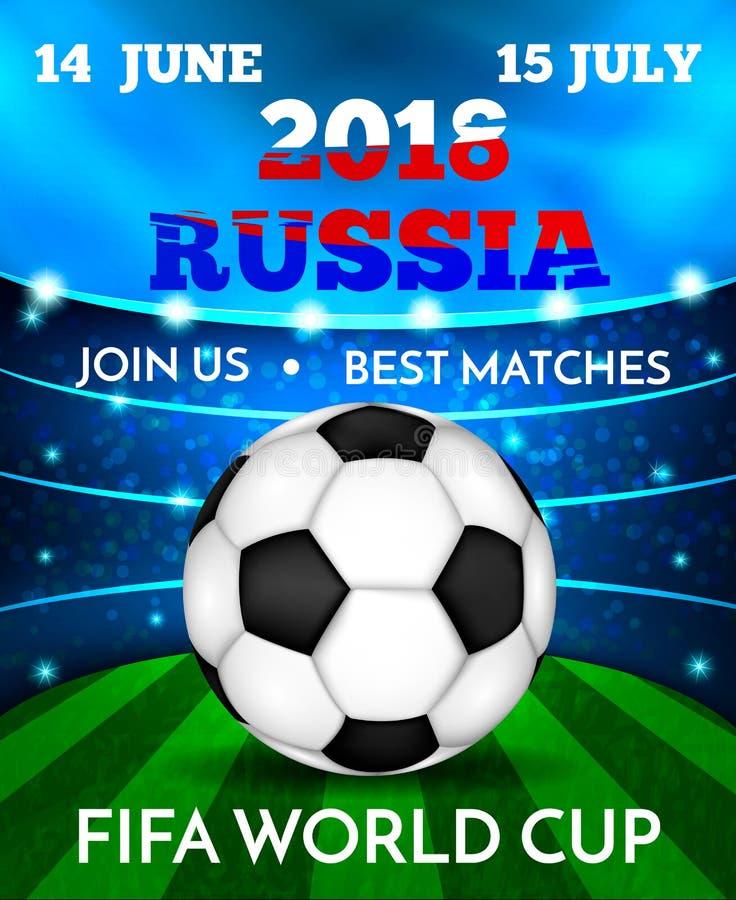 Mundial del fútbol ilustración del vector