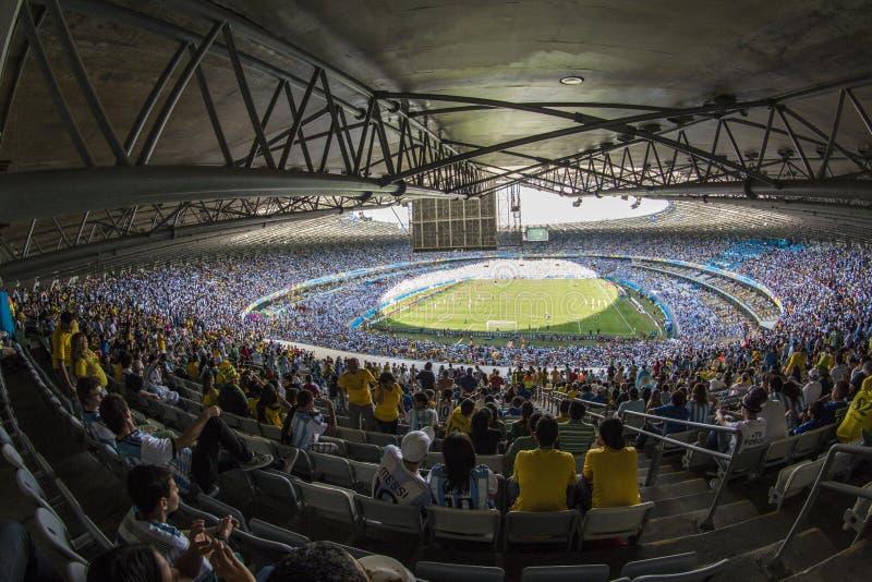 Mundial el Brasil 2014 - Irán de la Argentina 1 x 0 imágenes de archivo libres de regalías