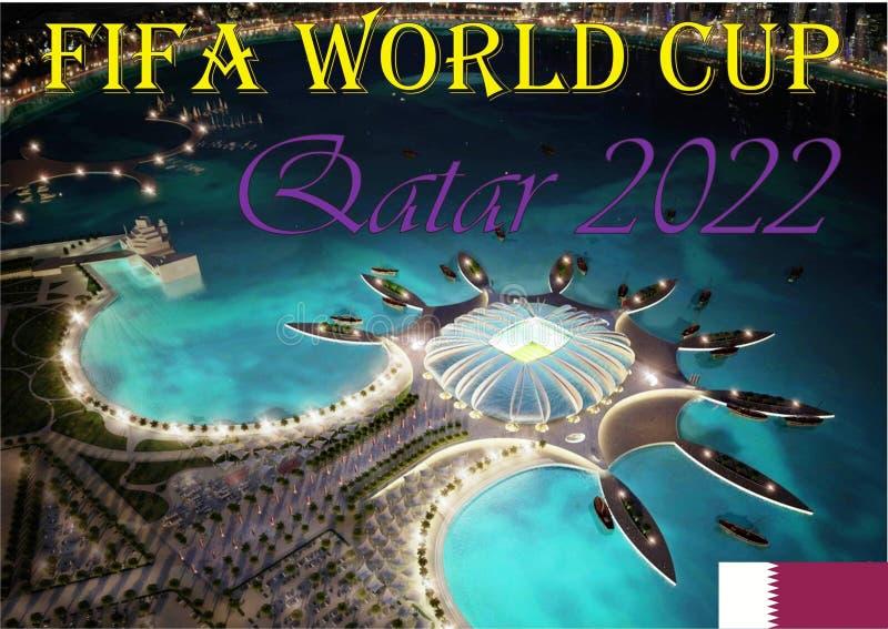 Mundial Qatar 2022 de la FIFA fotografía de archivo libre de regalías