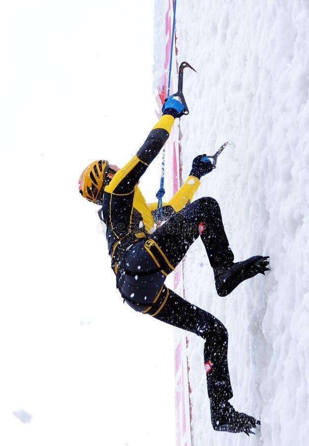 Mundial que sube 2014 del hielo de UIAA imagen de archivo libre de regalías