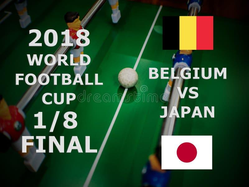 Mundial Rusia 2018, partido del Fifa de fútbol campeonato final Un octavo de la taza Partido Bélgica CONTRA Japón foto de archivo libre de regalías