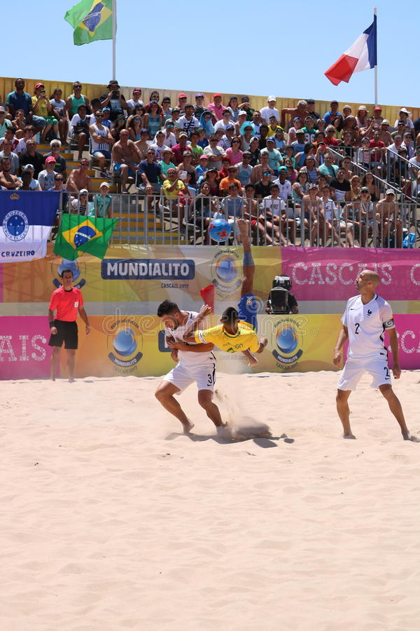 MUNDIALITO - Brasil vs Fance 2017 stock photos