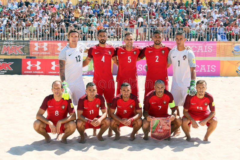 MUNDIALITO - PORTUGIESISCHES Team Carcavelos 2017 Portugal stockfoto