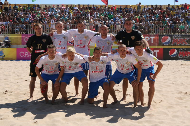 MUNDIALITO - Russian Team 2017 Carcavelos Portugal stock photography