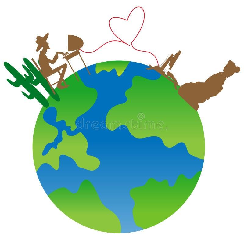 Download Mundo 2 ilustração do vetor. Ilustração de coração, homem - 10060511