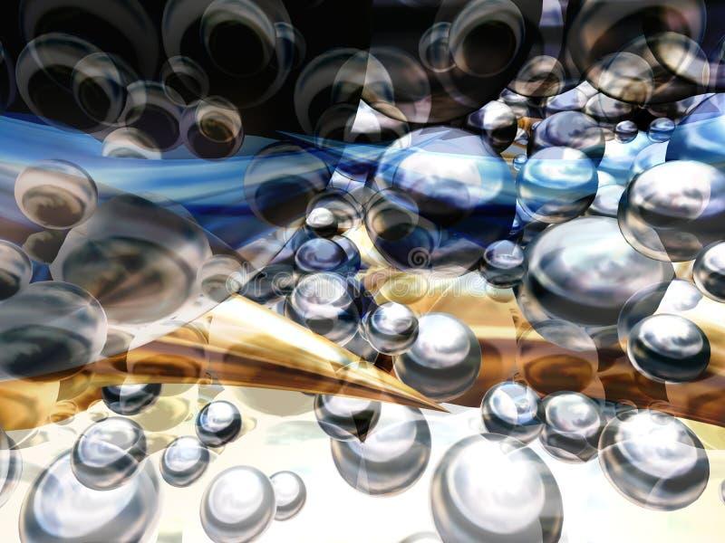 Mundo 2 das esferas ilustração royalty free