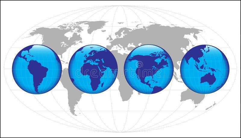 Mundo stock de ilustración