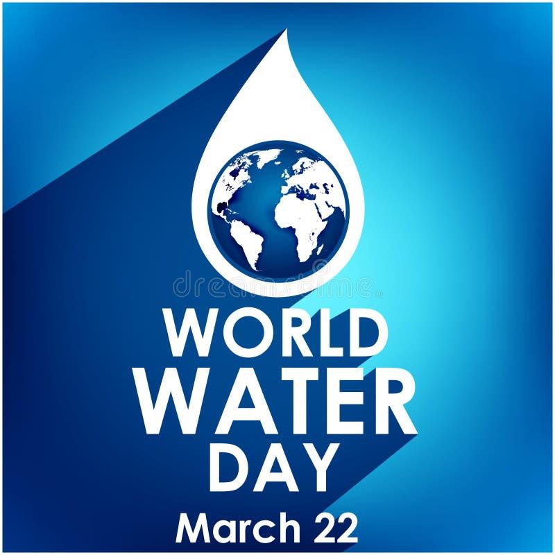 Mundo agua día 22 de marzo creativo libre illustration