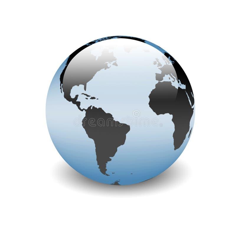Mundo americano, un globo del orbe del shinny stock de ilustración
