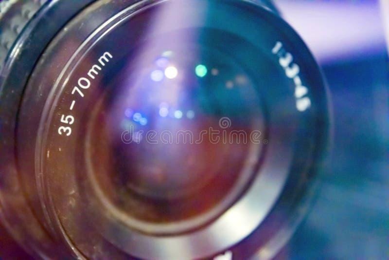 Mundo através de uma lente fotografia de stock