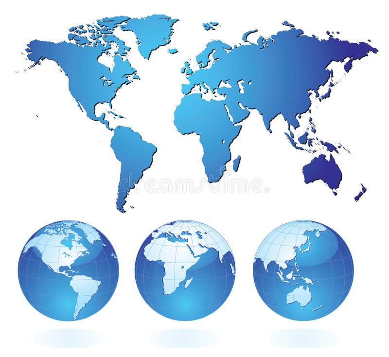 Mundo azul libre illustration