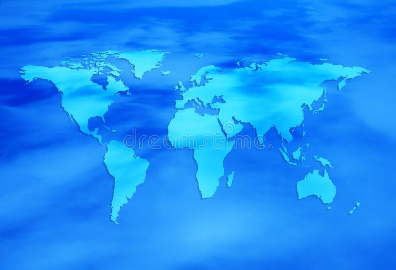 Mundo azul stock de ilustración