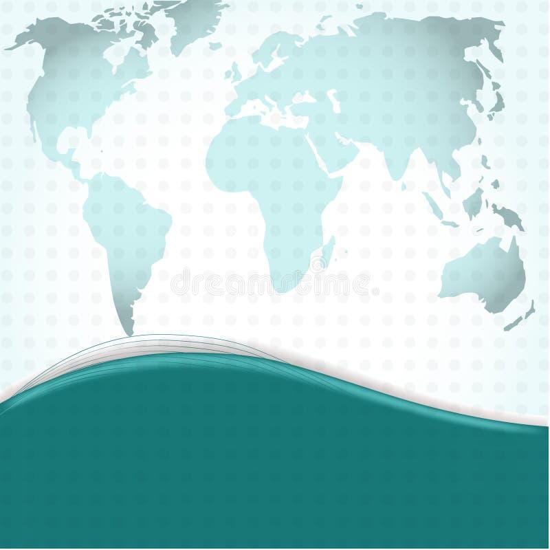 Download Mundo Azul De Trajetos De Grampeamento Ilustração Stock - Ilustração de sumário, companhia: 16860445