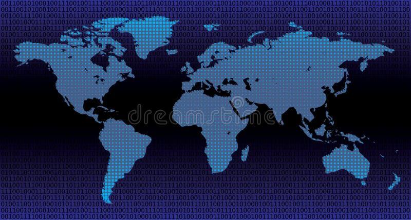 Mundo binário ilustração do vetor