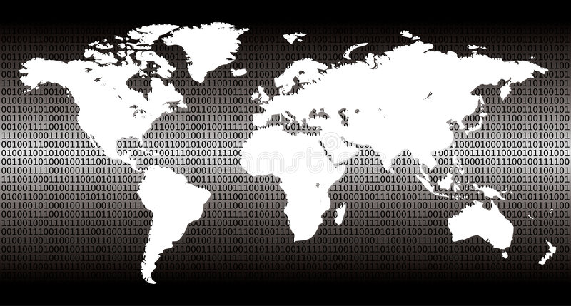 Mundo binário ilustração stock