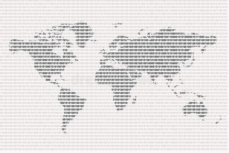 Mundo binario stock de ilustración