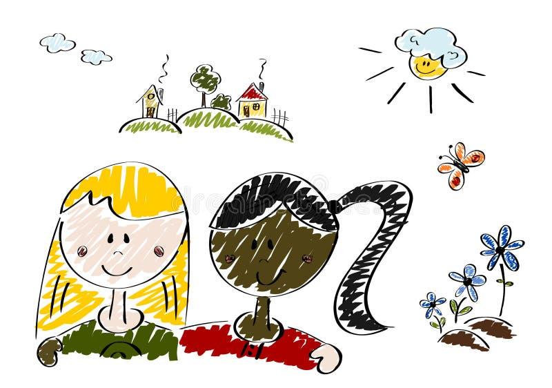 Mundo colorido ilustração do vetor