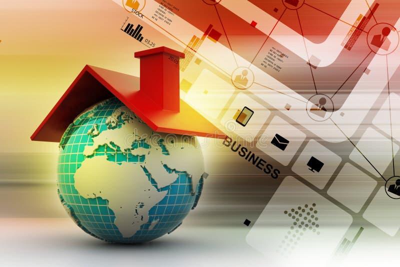 Mundo con el tejado libre illustration