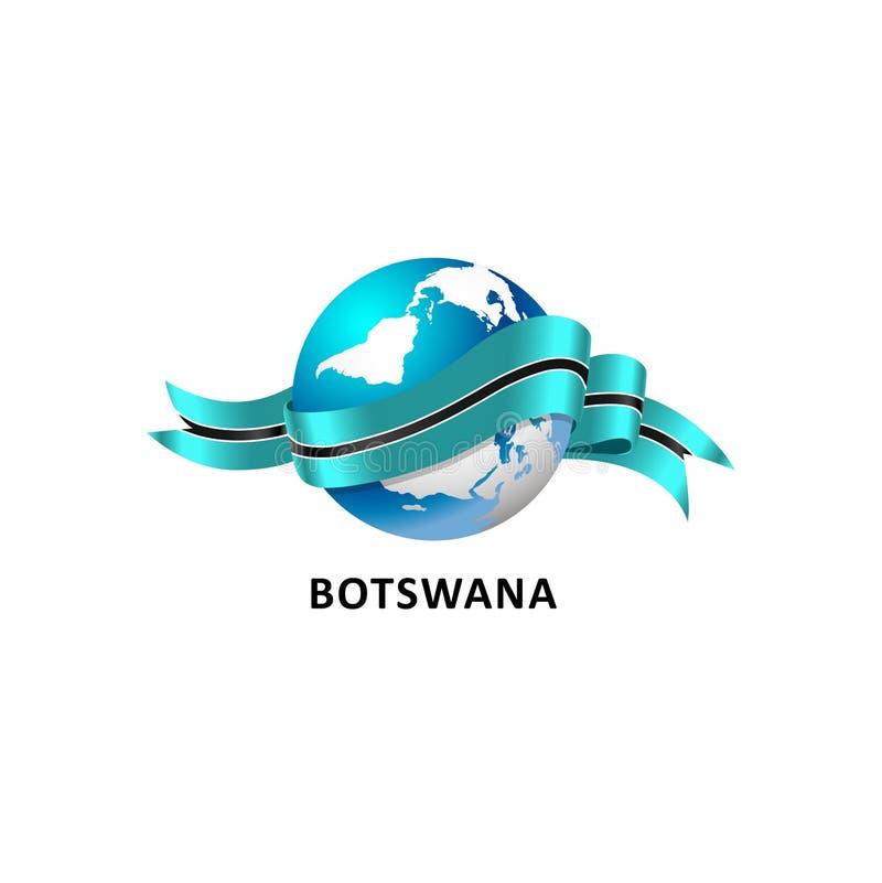 Mundo con la bandera de Botswana libre illustration