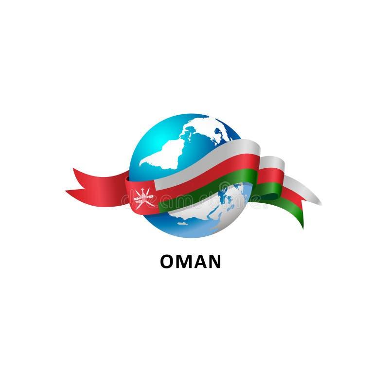 Mundo con la bandera de Omán libre illustration