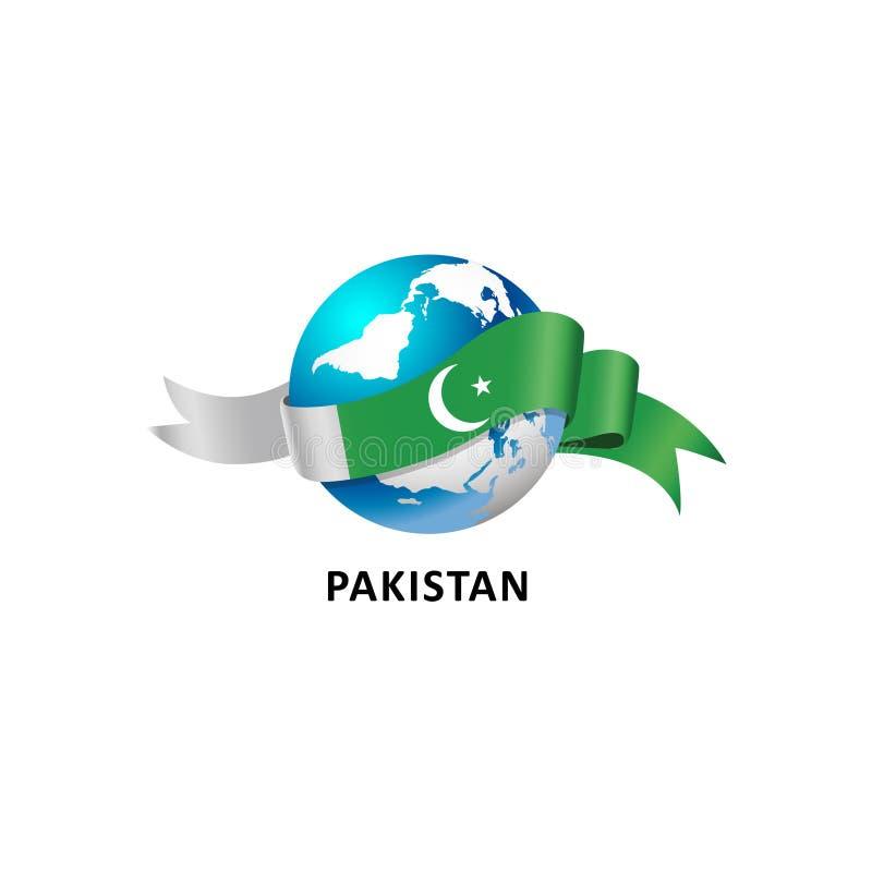 Mundo con la bandera de Paquistán libre illustration