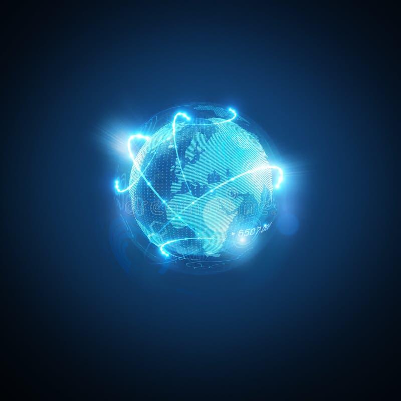 Mundo conectado ilustração do vetor