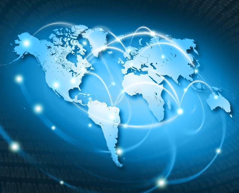 Mundo conectado - EUA ilustração stock