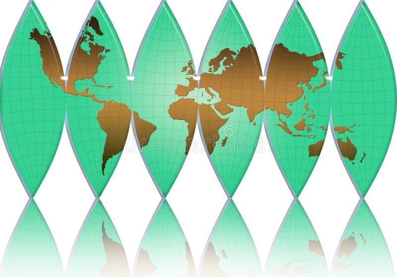 mundo, correspondencia, mundo-glob ilustración del vector