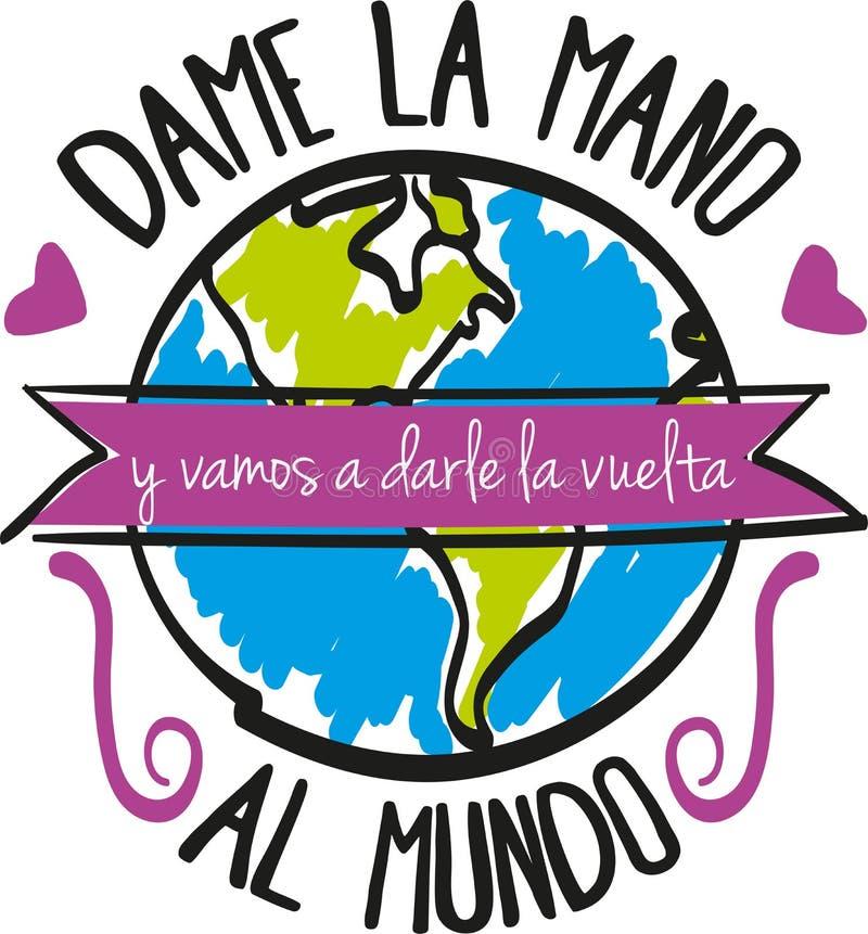 Mundo d'Al de Vuelta illustration libre de droits