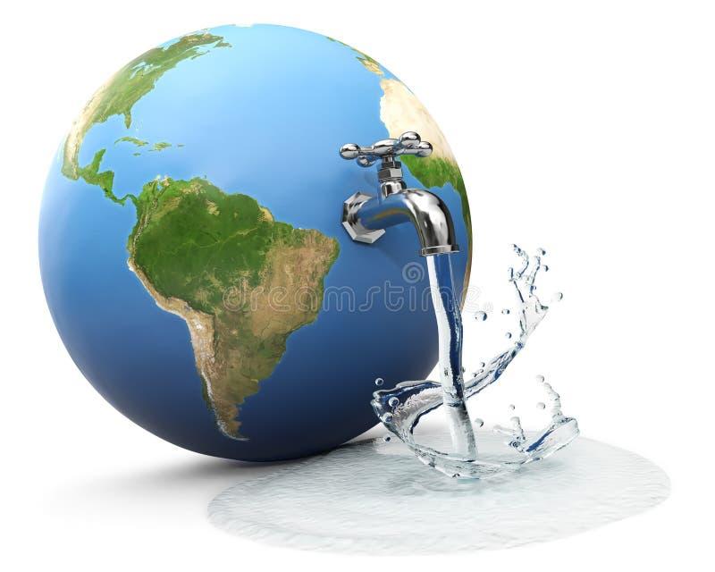 Mundo da água ilustração stock