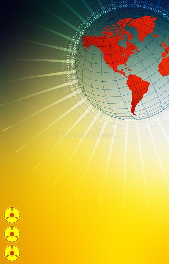 Mundo da alta tecnologia ilustração royalty free