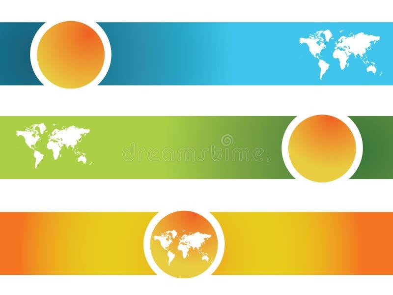 Mundo da bandeira ilustração royalty free